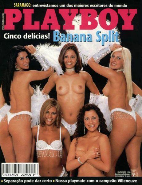 Grupo Banana Split 5 gostosas pelada na playboy 1998