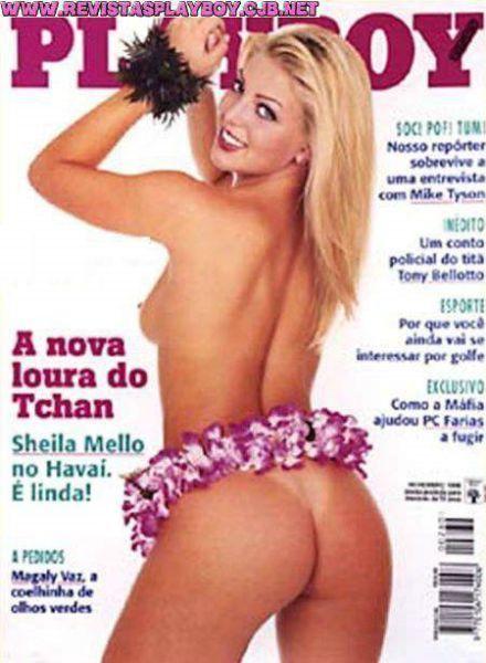 Sheila Mello pelada gostosa na playboy de 1998