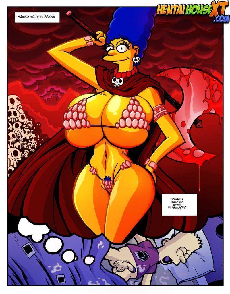 Quadrinho erótico Marge peituda os simpsons