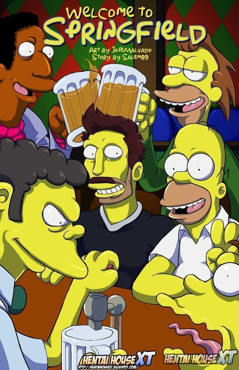Quadrinho pornô Marge dando para amigo do Homer