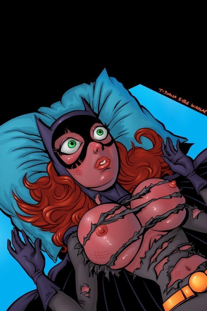 Quadrinho erótico Alfred comendo Batgirl gostosa