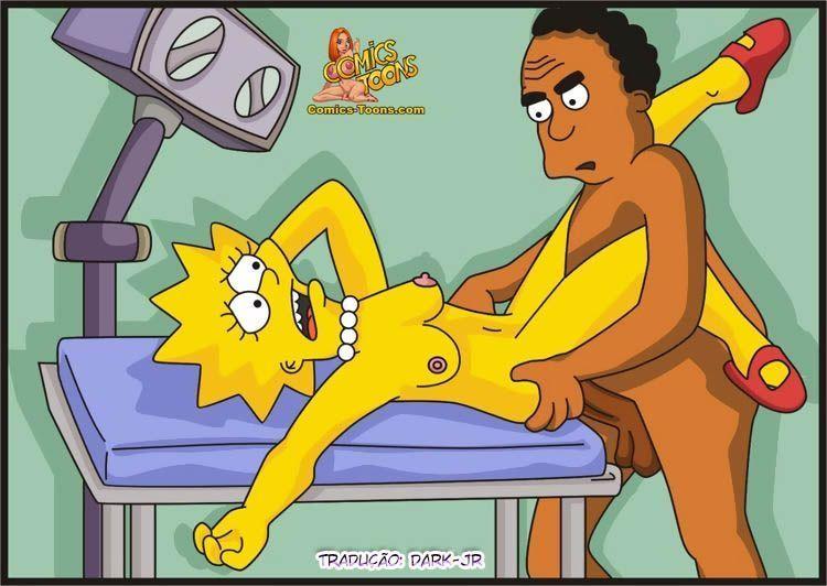 Quadrinho erótico Levando Lisa no Médico safado