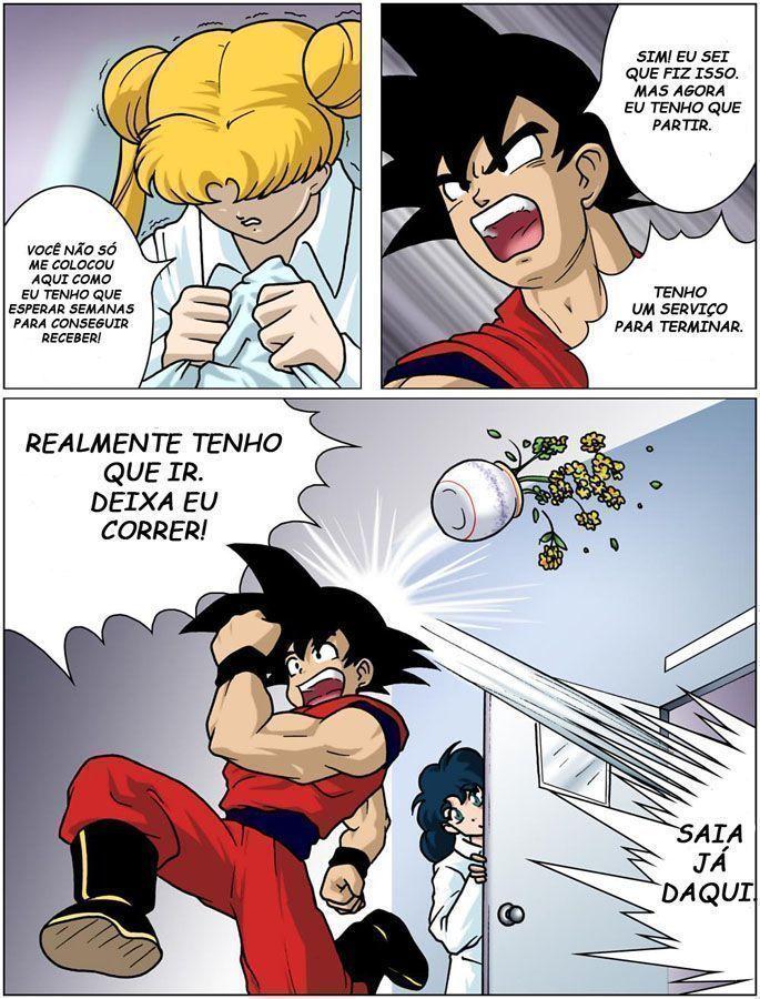 Goku and sailor moon hentai MANY