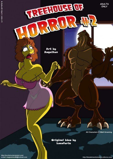 Quadrinho pornô Os Simpsons casa do terror